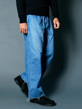 SHAVING DENIM TROUSERS