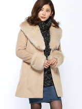 サッシュBELT付Faux Fur Wool MIX CT