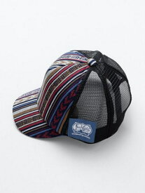 【SALE/50%OFF】チャイハネ カラフルボーダーKID'Sキャップ チャイハネ 帽子/ヘア小物 キャップ ブラック ホワイト グリーン