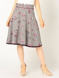 【SALE/56%OFF】MISCH MASCH 花柄配色スカート ミッシュ マッシュ スカート フレアスカート ピンク ホワイト【送料無料】
