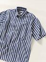 SHIPS any SHIPSany:リラックスレギュラーカラー半袖シャツ シップス シャツ/ブラウス 半袖シャツ ネイビー ブラック …