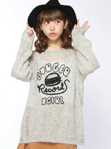 X-girlxBURGER RECORDS MOHAIR KNIT TOP