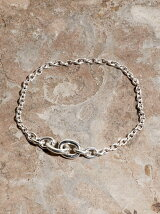 IDEALITE:LINK CHAIN BRACLET SMALL:イデアライト リンクチェーンブレスレット スモール