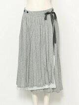 綿麻ムラ染め スカート