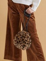レオパードファー巾着バッグ