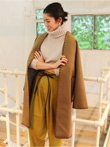 Collarless Stitch Coat