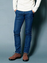 KNIT DENIM TAPERED SLIM NO-P PANTS