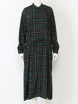 PLAID CHECK LONG DRESS