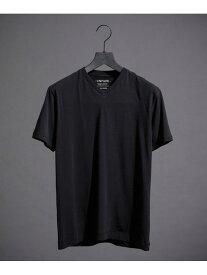 【SALE/10%OFF】WillLOUNGE WLGUNFADEVネックTシャツ ナノユニバース カットソー カットソーその他 ブラック グレー ホワイト【送料無料】