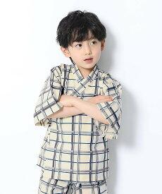 devirock 甚平デビロック 子供服 キッズ デビロック ビジネス/フォーマル 着物/浴衣 ネイビー ブラック グレー ホワイト