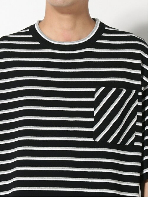 SUPERTHANKS/ BORDER KNIT BIC T-SHIRT
