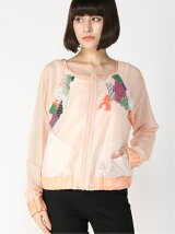 (W)EMBELLISHED BOMBER JACKET