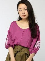 袖カットワーク刺繍BL