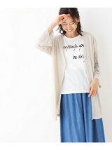 刺繍カーディガン+ロゴTシャツ