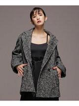 ツィードジャケットコート