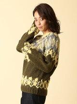 ノルディッククルーネックニット【FUDGE11月号掲載】
