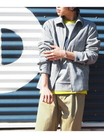 【SALE/50%OFF】SHARE PARK グレンチェック柄 ブルゾン シェアパーク コート/ジャケット ブルゾン グレー【送料無料】