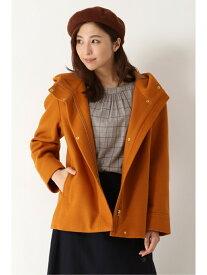 ikka ニットメルトンショートジャケット イッカ コート/ジャケット ブルゾン オレンジ グレー ネイビー【送料無料】