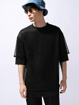 LAYERED MESH BIG T-SHIRT