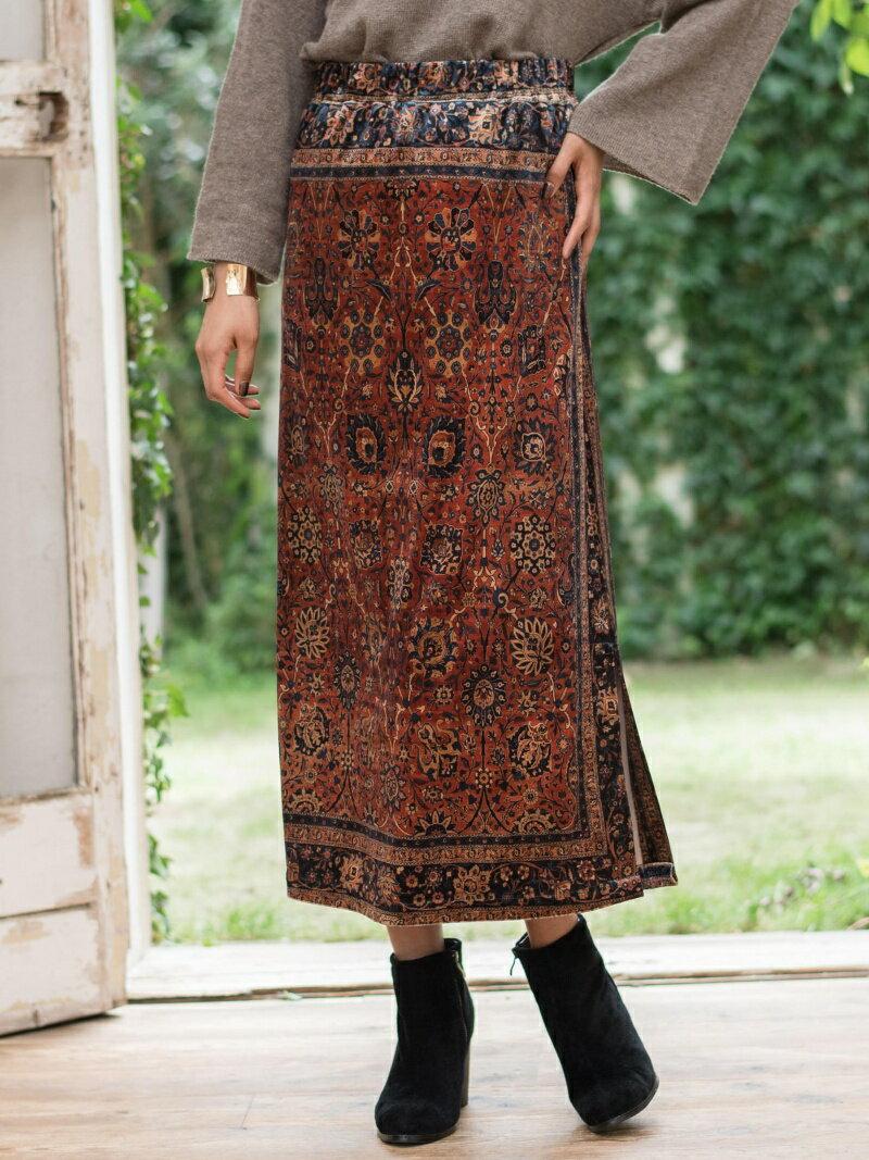【SALE/50%OFF】goa PERSIAN RUG プリントベロアスカート    スカート【RBA_S】【RBA_E】【送料無料】
