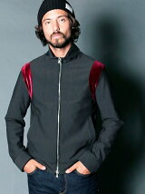 NYLON 4WAY STRETCH STAND ZIP TRACK JKT