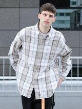 【WEB限定】 by チェック オーバーサイズ シャツ