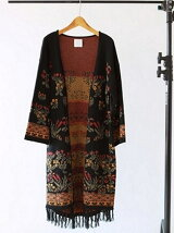 Jacquard Knit Gown