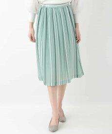 【SALE/20%OFF】OFUON ストライププリーツスカート オフオン スカート【RBA_S】【RBA_E】【送料無料】
