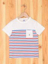 (K)トリコロールボーダー半袖Tシャツ