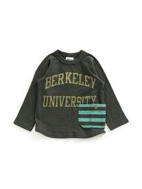 BREEZE ボーダーポケットTシャツ エフオーオンラインストア カットソー Tシャツ グレー ホワイト