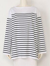 【SALE/60%OFF】Mila Owen ビッグシルエットボーダ-Tee ミラオーウェン カットソー Tシャツ ホワイト ブラック