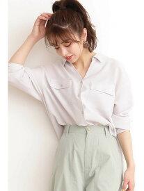 【SALE/10%OFF】N. Natural Beauty Basic ドライポプリンシャツ エヌ ナチュラルビューティーベーシック* シャツ/ブラウス シャツ/ブラウスその他 グレー ピンク カーキ【送料無料】