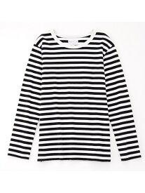 agnes b. FEMME FEMME/(W)J008 TS ボーダーTシャツ アニエスベー カットソー Tシャツ ホワイト【送料無料】