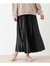 【SALE/36%OFF】SHOO・LA・RUE 【S-L】レザーフィールプリーツスカート シューラルー スカート スカートその他 ブラック ブラウン ベージュ レッド