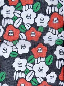 カヤ くびくるみ 椿柄ストール チャイハネ ファッショングッズ マフラー/スヌード ブラック ブラウン