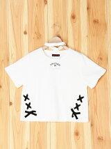 レースアップチョーカー半袖Tシャツ/ジュニア/夏/ガール/女の子