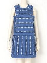 フリンジボーダーボックスドレス