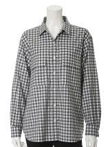 《INED》コットンギンガムチェックシャツ