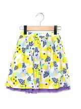 フルーツ柄プリントボイルスカート