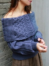 Offshoulder Cable Knit