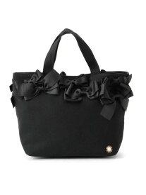 Couture brooch 【メニーリボンシリーズ】メニーリボントート クチュールブローチ バッグ トートバッグ ブラック ベージュ【送料無料】