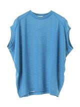 リネン混ワイド変形Tシャツ