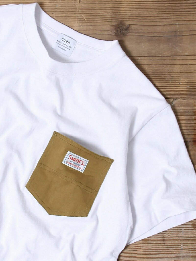 coen 【女性にも人気】SMITH別注ポケットTシャツ(一部WEB限定カラー) コーエン カットソー