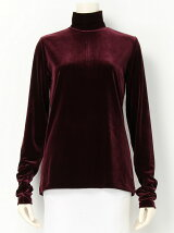 VELOUR TURTLE NECK TOP