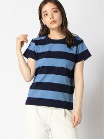 agnes b. FEMME FEMME/(W)J019 TS Tシャツ アニエスベー カットソー Tシャツ ブルー ベージュ【送料無料】