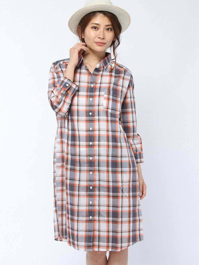 【SALE/75%OFF】CLEAR IMPRESSION チェック柄ポケ付きシャツワンピース クリアインプレッション ワンピース【RBA_S】【RBA_E】