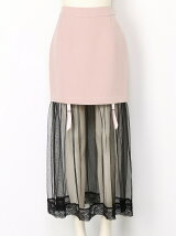 4WAYガーターチュールタイトスカート