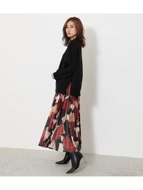 rienda オーガンジープリーツJ/WフレアSK-R リエンダ スカート スカートその他 ブラック ブラウン ベージュ パープル【送料無料】