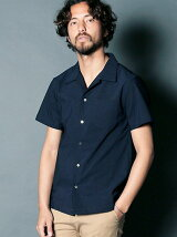 RY/LI COOLMAX CHAMBRAY OPEN COLLAR SHIRTS S/S