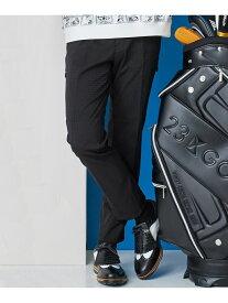 23区GOLF 【ストレッチ】【MEN】ドビーチェックパンツ ニジュウサンクゴルフ パンツ/ジーンズ フルレングス ブラック【送料無料】